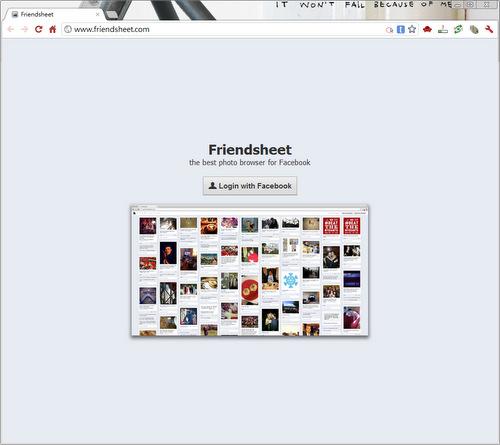 Login FriendSheet