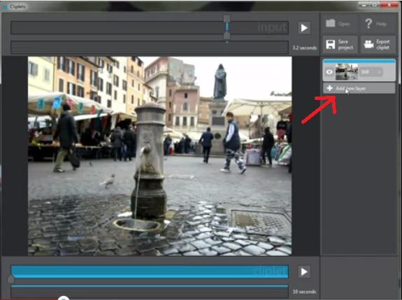 選定背景後,再按「add layer」來新增一個動畫的圖層