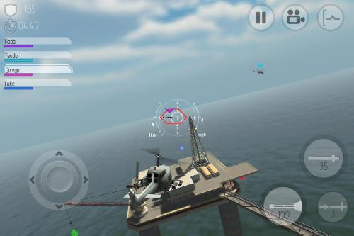 將其它的直升機橋到中間的位置,雷達會自動用紅色鎖定