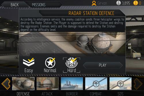 主選單 → 任務(mission):還可以選攻擊(attack)、降落(border)、打鬥(combat)、求救(sos)