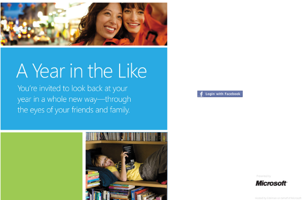 A year in the like 登入畫面,按右邊的 Facebook Login 從 FB 登入
