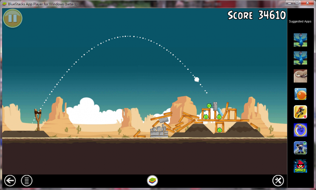 大畫面玩 Angry Bird 很棒