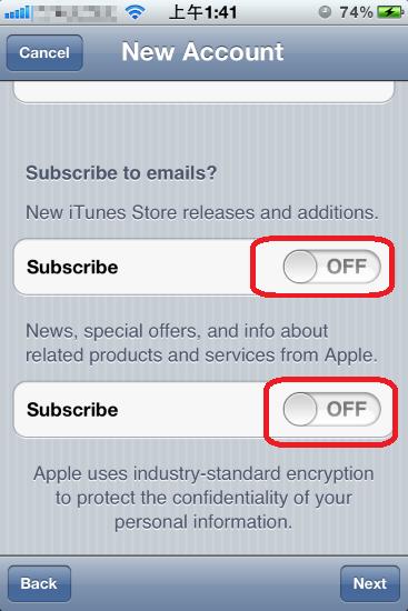 預設會幫你訂閱一些最新消息,把兩項給勾掉。