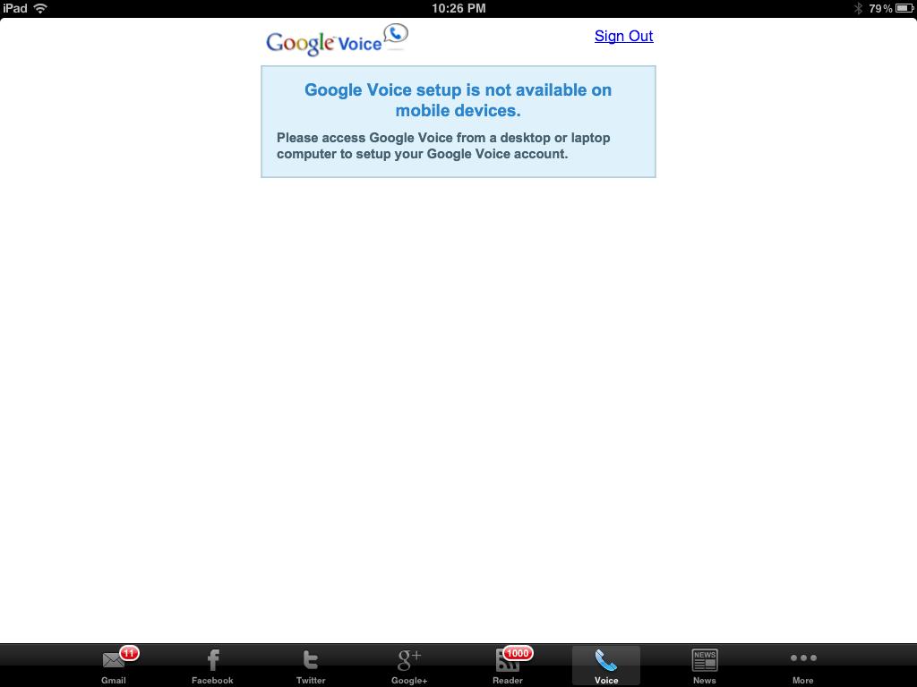 Google voice 分頁,但...台灣不能用