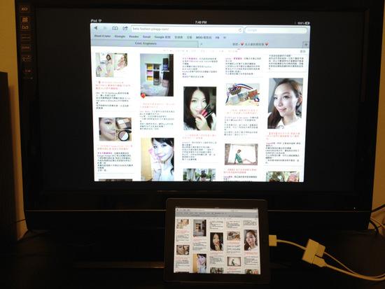 ipad2 直接鏡像在電視螢幕上